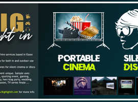 Portable/pop-up cinema and silent disco hire in Essex