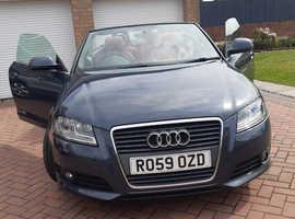 Audi A3, 2009 (59) Grey Convertible, Manual Diesel, 94,895 miles
