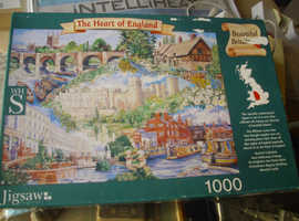 """Jigsaw Puzzle by WH Smith. 1000 piece """"The Heart Of England"""""""