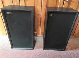 Vintage, Bohland & Fuchs Speakers x 2, Model No: BFB14, Black, Untested
