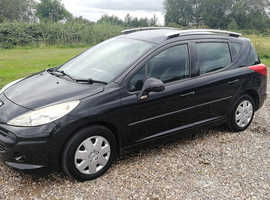 PEUGEOT 207 SW TD ESTATE, 2007 REG, RECENT NEW CAMBELT, ONE OWNER, NICE SPEC WITH PANORAMIC ROOF