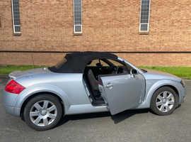 Audi TT, 2005 (163 BHP) Silver Convertible, Manual Petrol, 71,000 miles