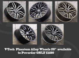 BLACK FRIDAY V-Tech Phantom Alloy Wheels 20 FREE TYRES