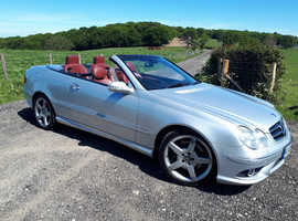 Mercedes Clk AMG Spootline, 2008 (08) Silver Convertible, Automatic Petrol, 77,000 miles