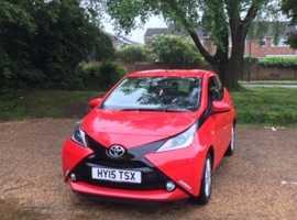 Toyota Aygo, 2015 (15) red hatchback, Cvt Petrol, 24,800 miles