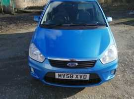 Ford C-Max, 2008 (58) Blue MPV, Manual Petrol, 51,962 miles