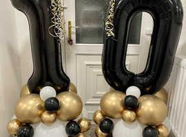 Birthday balloons age 10