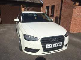 Audi A3, 2013 (63) White Hatchback, Manual Diesel, 60,279 miles