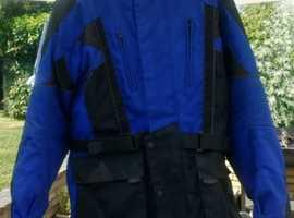 Frank Thomas Aqua motorcycle jacket