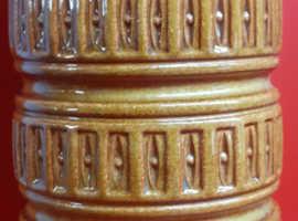 Vintage West German Pottery Large Vase Tundra Design 268-40