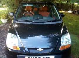 Daewoo Matiz, 2008 (58) Black Hatchback, Manual Petrol,  70k miles