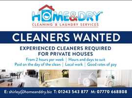 Reliable Cleaners Needed.