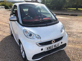 Smart Fortwo Coupe, 2012 (12) White Coupe, Automatic Petrol, 26,865 miles
