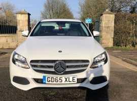 Mercedes C CLASS, 2015 (65) White Saloon, Manual Diesel, 37,000 miles