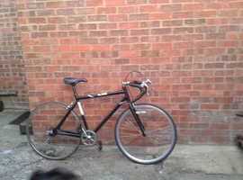One adult five speed racing bike