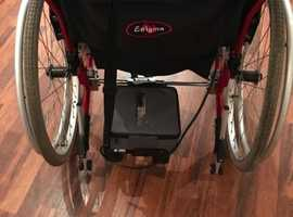 Wheelchair and detachable universal electric motor combo