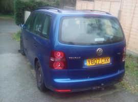 Volkswagen Touran, 2007 (07) Blue MPV, Manual Diesel, 161,680 miles