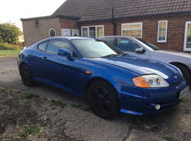 Hyundai Coupe, 2004 (54) Blue Coupe, Manual Petrol, 112,000 miles