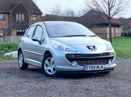 Peugeot 207, 2009 (09) Silver Hatchback, Manual Petrol, 60,243 miles, LONG MOT, VERY NICE CAR