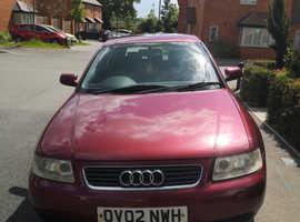 Audi A3, 2002 (02) Red Hatchback, Manual Petrol, 153,728 miles
