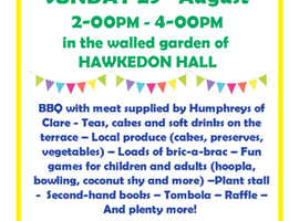 Hawkedon Summer Fete 29th Aug 2021 2-4pm