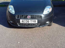 Fiat Grande Punto, 2008 (08) Grey Hatchback, Manual Petrol, 77,822 miles