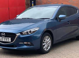 Mazda 3,  SE-L Nav (17-reg), Eternal Blue Hatchback, Manual Petrol, 25,398 miles