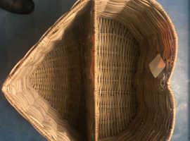 Heart shaped log basket