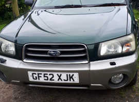 Subaru Forester, 2002 (52) Green estate, Manual Petrol, 181339 miles