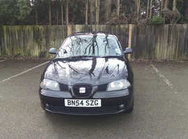 Seat Ibiza, 2004 (54) Black Hatchback, Manual Petrol, 82 miles