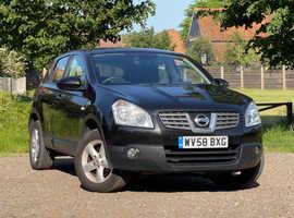 Nissan Qashqai, 2008 (58) Black Hatchback, Manual Petrol, 93,046 miles