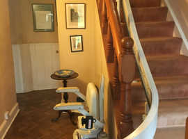 Brooks curved stairlift in excellent condition. Big savings on new! Installation and warranty included.