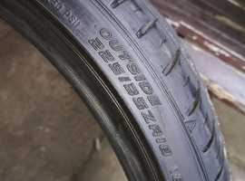 PAIR OF FALKEN 225 X 35 X 18 PART WORN TYRES £ 40.00   .COLLECTION FROM ST ALBANS .