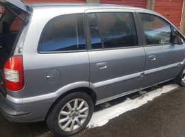 7 seater LHD SPANISH REG Vauxhall Zafira/opel 2005 Grey