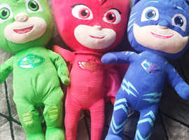 Pj masks large plush toys.