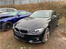 BMW 4 Series, 2014 (14) black M SPORT coupe, Manual Diesel,