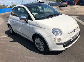 Fiat 500, 2009 (59) White Hatchback, Manual Petrol, 46,000 miles