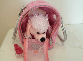 Poodle and bag
