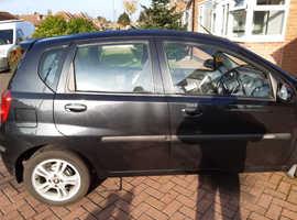 Chevrolet Aveo, 2009 (59) Black Hatchback, Manual Petrol, 33,000 miles
