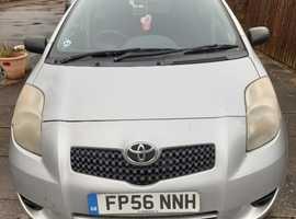 Toyota Yaris, 2006 (56) Silver Hatchback, Manual Petrol, 116,000 miles, 12 months MOT