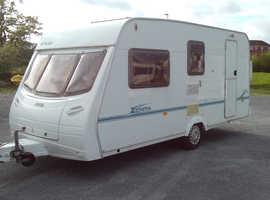 Lunar Zenith Four, four berth touring caravan 2003. Ultra lightweight caravan good condition lots of accessories