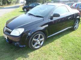 Vauxhall Tigra, 2009 (09) Black Convertible, Manual Petrol, 58,300 miles