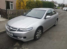 Honda Accord, 2006 (06) Silver Saloon, Manual Diesel, 142,000 miles