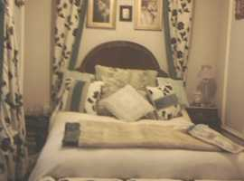 CREAM/BLACK & PALE BLUE SILK BEDROOM CUSHIONS