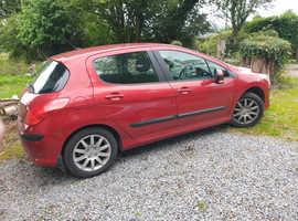 Peugeot 308, 2010 (10) Red Hatchback, Manual Petrol, 104 miles