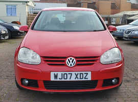Volkswagen Golf, 2007 (07) Red Hatchback, Manual Diesel, 92,780 miles