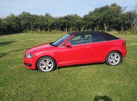 Audi A3, 2008 (58) Red Convertible, Semi auto Petrol, 110,000 miles