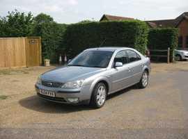 Ford Mondeo, 2004 (04) Ghia X Silver Hatchback, Manual Diesel, 97,000 miles