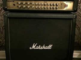 Marshall AVT150H, 150Watt, 4channel, guitar amplifier with vintage Marshall Speaker Angled Cab 4x12.