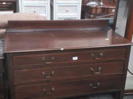 Antique 3 draw chest